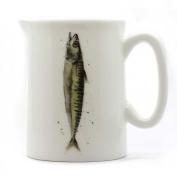 Sardine Mini Jug - Quarter Pint Jug - Fish Jug - Fine Bone China
