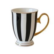 Bombay Duck - Stripy Mug - Black and White