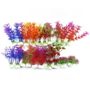 DLOnline 20 Pack Artificial Aquarium Plants Fish Tank Decorations Home Décor Plastic