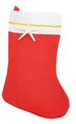 Red Felt Christmas Holiday Stockings | Nautical 41cm Stocking Kit (4 Pack) I Customise your Stocking DIY | Nautical Crush Trading