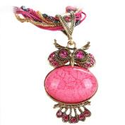 Bohemian Owl Model Necklaces Women Rhinestone Gem Pendant Collar Sweater Chain Jewellery Statement