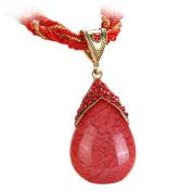Bohemian Jewellery Statement Necklaces Women Rhinestone Gem Pendant Collar Sweater Chain