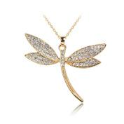 New Alloy Women Crystal Necklace Metal Jewellery Bib Pendant Chain Rhinestone Necklace Sweater Chain