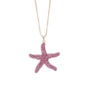 Adornment Necklace,Fashion Women Charm Starfish/Owl/Elephant Crystal Rhinestone Cute Pendant Sweater Necklace