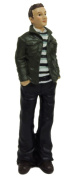 Melody Jane Dollhouse Modern Casual Man in Jacket 1:12 Scale Resin People