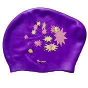 Vertvie Women Swimming Silicone Cap No Leaking Long Hair Swimming Cap Keeps Hair Dry