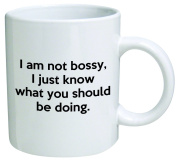 I Am Not Bossy, I Just Know What You Should Be Doing Coffee Mug Funny Office Collectible Novelty and Souvenir 330ml