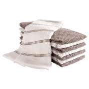 Pantry Piedmont Kitchen Towels (Set of 8, 41cm x 70cm ), 100% Cotton, Ultra Absorbent Terry Towels - Pewter