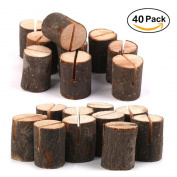Rustic Wood Table Numbers Holder Wood Place Card Holder Party Wedding Table Name Card Holder Memo Note Card