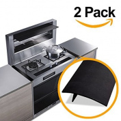 Kitchen Silicone Stove Counter Gap Cover, Easy Clean Heat Resistant Gap Filler, Seals Spills Between Washing Machines, Oven, Washer, Dryer Pack of 2