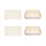 Combo Pack, 2 Drip Pans and 2 Drip Pan Covers, Replaces Crathco 2231 & 2232