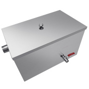 INJASWISE Commercial 11kg Grease Trap 13GPM Stainless Steel for Restaurant Kitchen