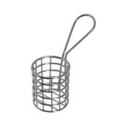 American Metalcraft MRNDBSKT Fry Baskets and Cones, 8.4cm Length x 4.2cm Width, Silver