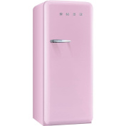 Smeg FAB28UPKR1 60cm 50s Retro Style Top-Freezer Refrigerator with 0.3cbm Capacity Ice Compartment Interior Light Adjustable Glass Shelves and Bottle Storage in Pink