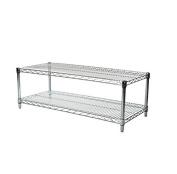 Commercial Chrome Wire Unit 18 x 36 - 2 Shelf Unit - 46cm Height