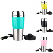 Smileto Ten Minutes Quick Heating Car Stainless Steel Travel Coffee Mug Cup Heated Thermos