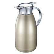 2010ml Coffee Thermal Carafe with Lid - 18/10 Stainless Steel Coffee Thermos Carafe by HUSKEY - Double Walled Vacuum Carafe Insulated
