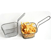 Doinshop Electroplate Stainless Steel Food Strainer Mini Frying Net Square Fry Basket