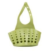 Kemilove Sponge Holder Sink Caddy Soap Holder Draining Organiser Corner Silicone Green