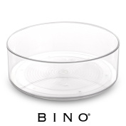 BINO Lazy Susan Turntable Spice Organiser Bin, Clear and Transparent Rotating Tray For Kitchen Pantry, Cabinet, and Countertops