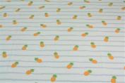 Jersey Pineapple Stripes White Grey Yellow)