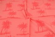 Jersey Fabric Palm Trees Orange