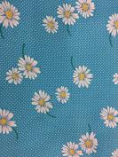 """Dress Fabric – 100% Cotton – 44 """" (110 cm) Wide - Sky BlueDaisy"""