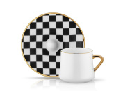 Sufi Checkerboard Cup and Saucer - 230 cc