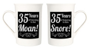 Amusing 35th Anniversary Mug Set with 35 Years of Snoring and Moaning by Haysoms