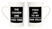 Star Wars-esque Mug Set - The Chosen One You Are and Yoda Leia To My Han Solo by Haysoms