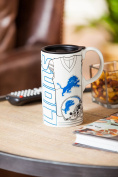 Team Sports America 3TBT3810A Detroit Lions Tall Boy Cup, White