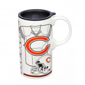 Team Sports America 3TBT3805A Chicago Bears Tall Boy Cup, White