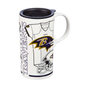 Team Sports America 3TBT3802A Baltimore Ravens Tall Boy Cup, White