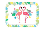 Melamine Serving Tray Dining Tray Kitchen Large Dinner Tray Serving Platter Great Quality Plastic Perfect for Parties Funky Flamingo Design Coffee Tray Serving Dishes Food Drink BBQ Tableware Party Tableware