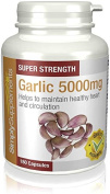 Garlic Capsules for Healthy Heart & Circulation | High Strength Formula Provides 5000mg per Capsule | 2 x 180 Capsule Tubs | Manufactured in the UK