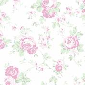 Cotton Fabric - Fat Quarter - Clothworks - Madeline - Medium Floral White