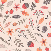 Cotton Fabric - Fat Quarter - Clothworks - Forest Owl - Small Toss Light Coral