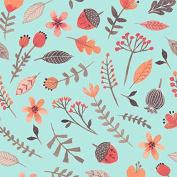 Cotton Fabric - Fat Quarter - Clothworks - Forest Owl - Small Toss Light Teal
