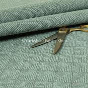 Flame Treated Semi Plain Chenille Textured Teal Blue Furniture Upholstery Fabric