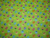 Tweety Bird Lime Dress Fabric –Polycotton – 112 cm wide