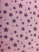 "Purple Star Dress Fabric - Cotton – 54"" (135 cm) wide"