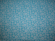 White / Turquoise Dress Fabric –Polycotton – 112 cm wide