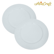AsiaCraft ™ White Beaded Metal Finish 36cm Charger Plate for Christmus, Wedding, Parties and Holidays