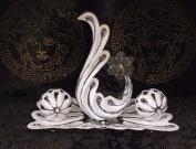 Top Medusa Rhinestone Flower Shaped Rhinestone 4 Figures Decoration Bowl Ceramic with