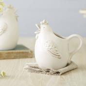 Country Style Ceramic Glug Hen Chicken Milk Jug 18cm, by Gisela Graham