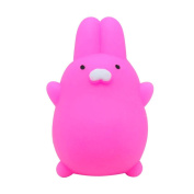 Wokee Soft Toys Cute Mochi Squishy Rabbit Squeeze Healing Fun Kawaii Toy Stress Reliever Decor Decompression Toys for Kids and Adults