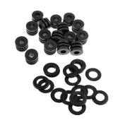 MagiDeal 16 Set 1.2 m Foosball Machine Washers + Table Soccer Rod Bumpers