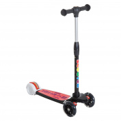 HOMCOM Adjustable Folding Kick Scooter Ride on Children Toy for Kids with 3 Wheel