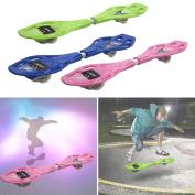 GYMAX Wave Board Caster Board Rip Stick Complete Street Skateboard Flash Wheel W/ Bag
