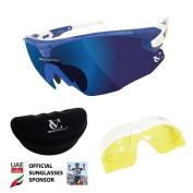 Blue Missile Sunglasses, Blue Bridge, Revo Blue/Yellow/Clear Lens & Free Case
